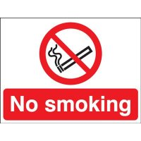 No Smoking Double-Sided Hanging Signs