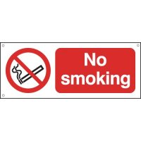 Stylish Anodised Aluminium No Smoking Sign