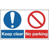 Keep Clear No Parking Multi Message Signs