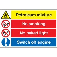 Petroleum Mixture, No Smoking... Multi-Message Signs