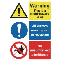 Plastic Multi-Hazard Multi-Message Visitor Signs