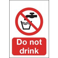 Universal 'Do Not Drink' Instructive Signs