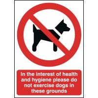 Strictly No Dogs Sign