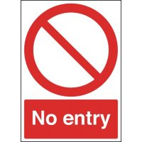 Durable Aluminium 'No Entry' Sign for Outdoor Use