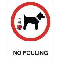 Durable No Fouling Warning Signs