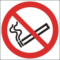 No Smoking (Symbol) Window Fix Signs