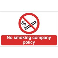 No Smoking Company Policy Signs