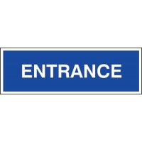 Plastic Entrance Sign