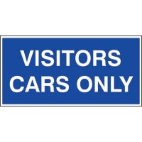 Visitors cars only' car park sign