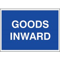 'Goods inwards' public information sign for warehouses