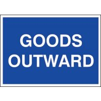 Plastic 'Goods Outward' Sign with Satin Finish