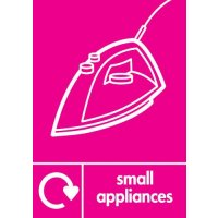 Small Appliances (Iron Symbol) Signs