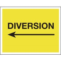 Diversion (Arrow Left) - Class 1 Reflective Signs