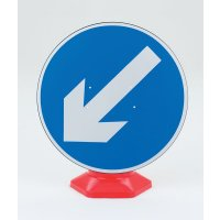 Keep Left Traffic Sign for Standard Cones