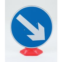 Reflective Keep Right Arrow Traffic Cone-Mounted Sign