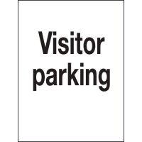 Concise and informative visitor parking sign