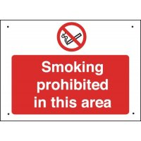 Vandal-Resistant Prohibition Safety Signs