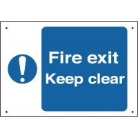 Vandal-Resistant Fire Safety Signs