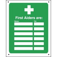 Vandal-Resistant First Aid Signs