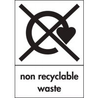 Plastic Or Vinyl Non-Recyclable Waste Signs
