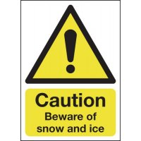 Durable and eye-catching temporary winter outdoor signs