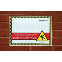 Self-Activating Ice Warning Sign