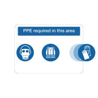 At point of need mandatory PPE requirement signs