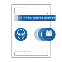 At Point of Need PPE Information Sign with Decals for Customisation