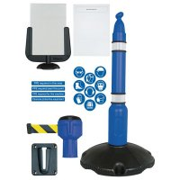 PPE information barrier kit with decals and sign holder