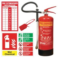 Wet Chemical Fire Extinguisher and Signage Kits