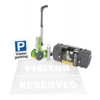 Complete Parking Bay Marking Kit for Visitor Spaces with Wall or Post Mounted Sign