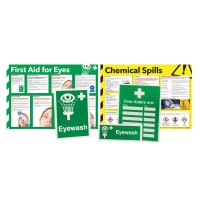 Eye Wash Awareness Sign and Poster Kits
