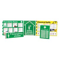 Safety Shower Awareness Sign and Poster Kits