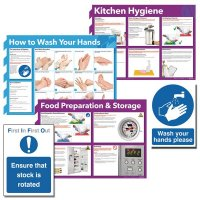 Kitchen Hygiene Sign and Poster Multipack