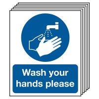 Multi-pack of wash your hands hygiene signs