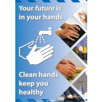 Clean Hands Keep You Healthy Poster