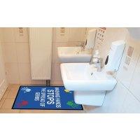 Stop The Spread of Germs - Social Distancing Floor Mat