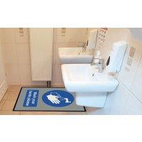 Wash Your Hands Please Social Distancing Floor Mat