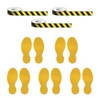 Social Distancing - Stripe Tape & Footprint Kit