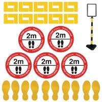 Social Distancing - Floor Sign & Corner Floor Marking Kit