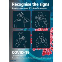 COVID-19 - Recognise The Signs Poster (Blue)