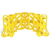Rubbermaid Yellow and Black Polypropylene Portable Instant Safety Barrier