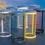 Galvanised Wire Mesh Outdoor Sackholder - Outdoor Bins