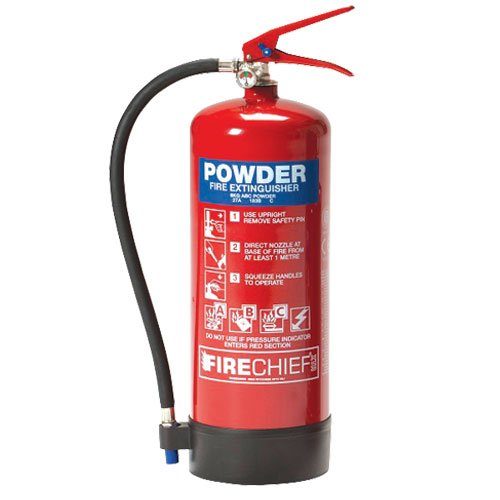 CLASS ABC POWDER RED FIRE EXTINGUISHER - Fire Extinguishers, Cabinets & Stands