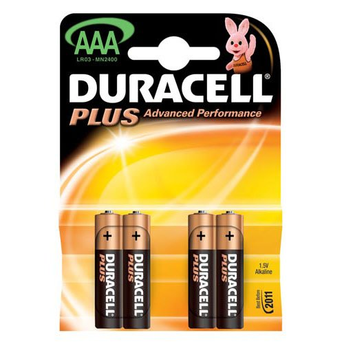 DURACELL PLUS BATTERIES IN VARIOUS SIZES
