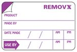 Removx Self-Adhesive Food Rotation Shelf-Life Labels - Food Safety Labels