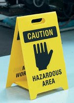 Durable double-sided dual-message floor stands - 'A' Boards & Barriers