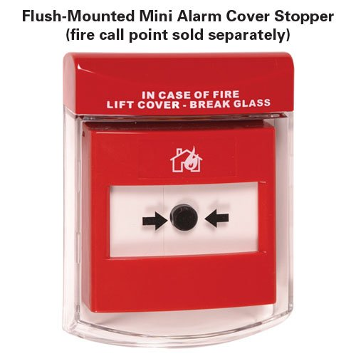 Clear Polycarbonate Mini Fire Alarm Call Point Cover - Fire Alarms & Testers
