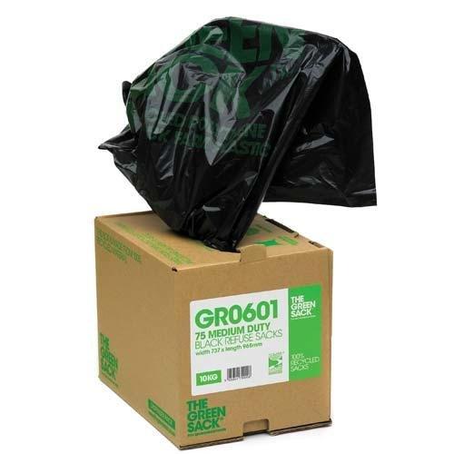 Recycled bin liners in dispenser - Bin Liners & Refuse Sacks