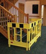 JSP 4-gate foldable polypropylene work barriers - 'A' Boards & Barriers